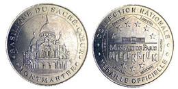 00697 GETTONE TOKEN JETON FICHA TOURISTIQUE MDP BASILIQUE DU SACRE COEUR  MONTMARTRE 2001 - 2001
