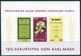 DDR - Mi 1365 B / 1367 B - ** Postfrisch (A) - Karl Marx - Ongebruikt