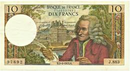FRANCE - 10 Francs - 5.4.1973 - P 147.d - Serie J.883 - Voltaire - 10 F 1963-1973 ''Voltaire''