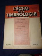 L'Echo De La Timbrologie 1954 No 1207 - Francesi (dal 1941))