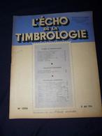 L'Echo De La Timbrologie 1954 No 1206 - Francesi (dal 1941))