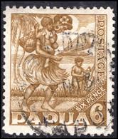Papua 1932-40 6d Bistre-brown Fine Used. - Papouasie-Nouvelle-Guinée