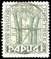 Papua 1932-40 1s Dull Blue-green Fine Used. - Papouasie-Nouvelle-Guinée