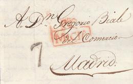 1820-CARTA-PREFILATELIA. MURCIA A MADRID. Marca MURCIA - ...-1850 Prefilatelia