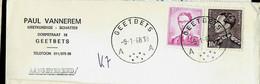 Doc. De GEETBETS - A A - Du 09/1/68 En Rec. ( E ) - Landpost (Ruralpost)