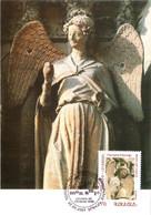 Carte Maximum YT 542 L'Ange Au Sourire De La Cathédrale De Reims 1er Jour 22 05 2007 TBE Arménie Mon Amie - Armenië