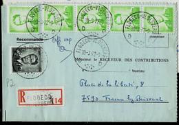 Doc. De FLOBECQ - VLOESBERG - D D - Du 30/03/72 En Rec. ( E ) - Landpost (Ruralpost)