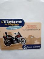 FRANCE TICKET HARLEY DAVIDSON SOFTAIL CUSTOM 1340 CC 3 MIN NEUF MINT 500 EX - Moto