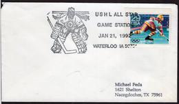 USA - 1992 - Special Postmark - Hockey Sur Glace - Hockey (Ijs)