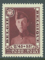 BELGIQUE - 1931 - MVLH/*  - CAPORAL BELGE - COB 325 -  Lot 22830 VERY LIGHT HINGED !!! BUT SMALL BROWN TRACES - Ongebruikt