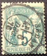 5c 6 N°64 Sedan Ardennes 6/12/1876 Sage 5c N Sous B - 1876-1878 Sage (Type I)