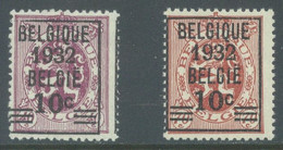 BELGIQUE - 1932 - MNH/** - LION HERALDIQUE OVERPRINT  - COB 333-334 - Lot 22832 - 1929-1937 Heraldic Lion