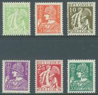 BELGIQUE - 1932 - MNH/*** LUXE - MERCURE CERES MERCURIUS  - COB 335-340 - Lot 22833 - 1932 Ceres And Mercurius