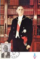 """"""" DE GAULLE """" Sur Carte Maximum De 1971 N° YT 1696 Parfait état. CM - De Gaulle (Generale)"""
