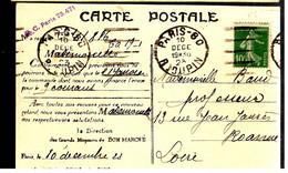 39715 - Semeuse  10 C Vert De Roulette - 1921-1960: Modern Tijdperk