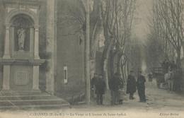 13)  CABANNES   -   La  Vierge Et L' Avenue Saint Andiol - Otros Municipios