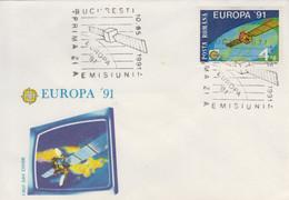 Enveloppe  FDC  1er  Jour   ROUMANIE     EUROPA    1991 - 1991