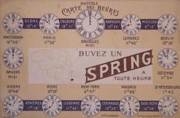 Reclame - Promotion //  Spring Bronnen Eau De Table - Carte Postal Dès Heures Belgique 1913 - Advertising