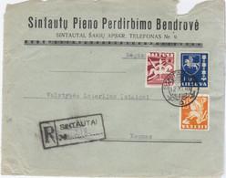 Lithuania Lietuva 1940 Sintautai, Sakiai Sakiu Apskritis - Lithuania