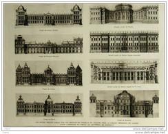 Les Divers Projets Concus Par Les Architectes Pour La Facade Orientale Du Louvre - Page Original 1928 - Historical Documents