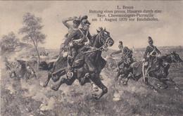 Rettung Eines Preuss Husaren Durch Eine Bayr. Chevaux Légers Patrouille Am 1. August 1870 Vor Reichshofen - Otras Guerras