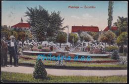 Petrinja šetališče - Promenade, Mailed 1918 - Croacia