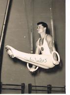 JEUX OLYMPIQUES - AUTOGRAPHE SUR PHOTO - ALLEMAGNE DE L'EST - WEBER - GYMNASTIQUE - - Handtekening