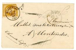 CHARENTE INFERIEURE ENV 1869 MONTENDRE T16 SUR EMPIRE LAURE DFT LETTRE LOCALE - 1849-1876: Periodo Clásico