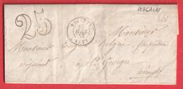 CAD TYPE 15 PEZENAS HERAULT BOITE RURALE S MAGALAS ST GEORGES 1853 - 1801-1848: Vorläufer XIX