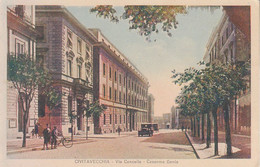 ITALIA - CIVITAVECCHIA - Caserma Genio, Animata, Scritta 1920 Circa - 2020-E-208 - Civitavecchia