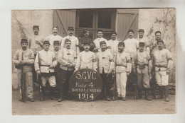 CPA PHOTO BOISSY L'AILLERIE (Val D'Oise) GUERRE 1914/18 - Section Des Garde Voies De Communication Poste 4 - Boissy-l'Aillerie