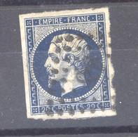 CLX  2563  -  France  :  Yv  14 Ab   (o)   Bleu Noir - 1853-1860 Napoleon III
