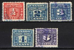 CANADA - CIFRE - USATI - Postage Due