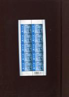 Belgie Feuillet De 10 PRIOR EUROPE 4370 MNH RR Monarchie Filip Philip Plaatnummer 1 - Hojas