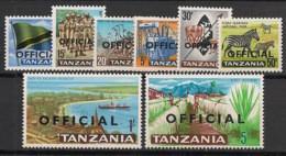 Tanzania - 1965- Service N°Mi. 1 à 8 - Série Complète - Neuf Luxe ** / MNH / Postfrisch - Tanzania (1964-...)