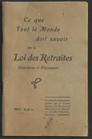 Livret Sur La Loi Des Retraites Ouvrière Et Paysannes De 64 Pages - Diritto