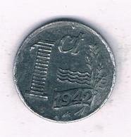 1 CENT 1942 NEDERLAND /9402/ - 1 Cent