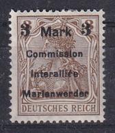 GERMANY 1920 Marienwerder Fi 24 Mint Hinged - Abstimmungsgebiete