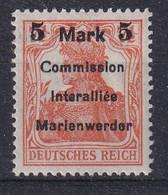 GERMANY 1920 Marienwerder Fi 25 Mint Hinged - Sectores De Coordinación