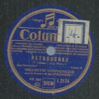 "127 ) 78 Tours 30cm  COLUMBIA 2174  "" PETROUCHKA "" + "" PETROUCHKA "" ORCHESTRE SYMPHONIQUE DE Igor STRAWINSKY - 78 G - Dischi Per Fonografi"