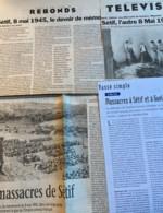 Sétif 1945 : 4 Articles Parus Entre 1995 & 98 (Libération-Politis-Le Monde) - 1950 - Nu
