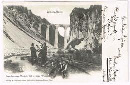 ALBULA-BAHN 1903 Bau Des Landwasser-Viadukts - GR Grisons