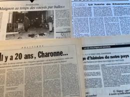 Charonne 1962 : 1 Brochure & 5 Articles  (brochure : Pour La Vérité Sur Charonne : Charonne, Histoire D'un Crime, 1972, - 1950 - Nu