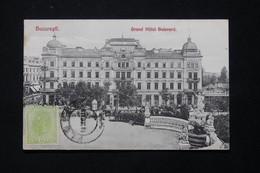 ROUMANIE - Affranchissement De Ploesti Sur Carte Postale ( Bucarest - Grand Hôtel ) En 1908 Pour La France - L 78905 - Briefe U. Dokumente