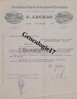 59 3522 LILLE NORD 1897 Courroie Transmission J. LECHAT Quai Wault Usine A GAND A STROHL SCWARTZ De LACROIX AUX MINES - 1800 – 1899