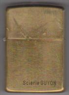 ZIPPO ( SOLID BRASS ) LAITON MASSIF . ZIPPO BRADFORD . PA . 1932    1989 . CADEAU PUBLICITAIRE - Zippo