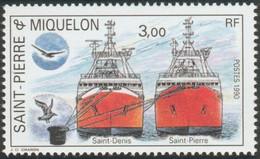 """SAINT PIERRE ET MIQUELON -  Les Proues De """"Saint-Denis"""" Et """"Saint Pierre"""" - Ships"""