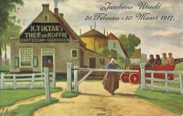 """10727""""JAARBEURS-UTRECHT-26/2-10/3-1917-PUBBLICITA' K.TIKTAK'S-THEE EN KOFFIE-AMSTERDAM-GRONINGEN""""-CART NON SPED - Fairs"""