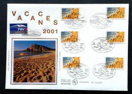 Enveloppe FDC Grand Format 2001 - VACANCES - TGV - 3400 - 2000-2009