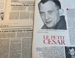Jean Jacques Susini (Procès-OAS ….) 9 Articles (dont 1 Photocopie) Parus Entre 1972 & 74 (Libération-Le Monde-Nouvel Obs - 1950 - Nu